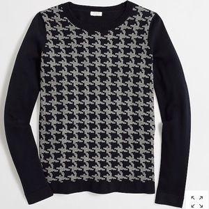 J. Crew•  Houndstooth crew neck Sweater